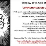 Commemoration Concert - Sydney June 19