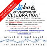 Lõke's 20th Anniversary Concert & Dinner - Saturday 9th September, Sydney