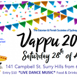 Vappu party - Saturday 28th April, Sydney Eesti Maja