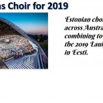 The Kooskõlas choir has been  accepted to sing at Laulupidu 2019 in Estonia
