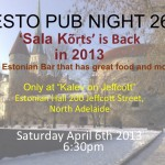 Esto Pub Night 26 - Adelaide Sat 6th April
