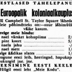 Where did you buy Estonian black bread 'must leib' in Sydney in 1953?