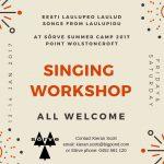 Sõrve Estonian Singing Workshop 2017