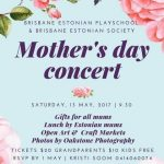 Brisbane Estonian Mother's Day Concert - Saturday 13 May 2017
