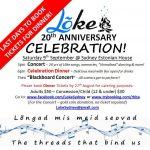 Lõke's 20th Anniversary Concert & Dinner - Saturday 9th September, Sydney